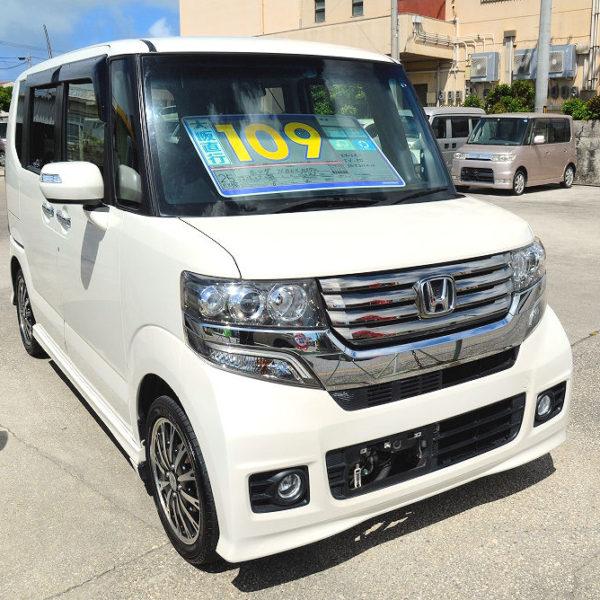 N-BOX カスタム 109万円 パールホワイト H25年式 走行10.1万km