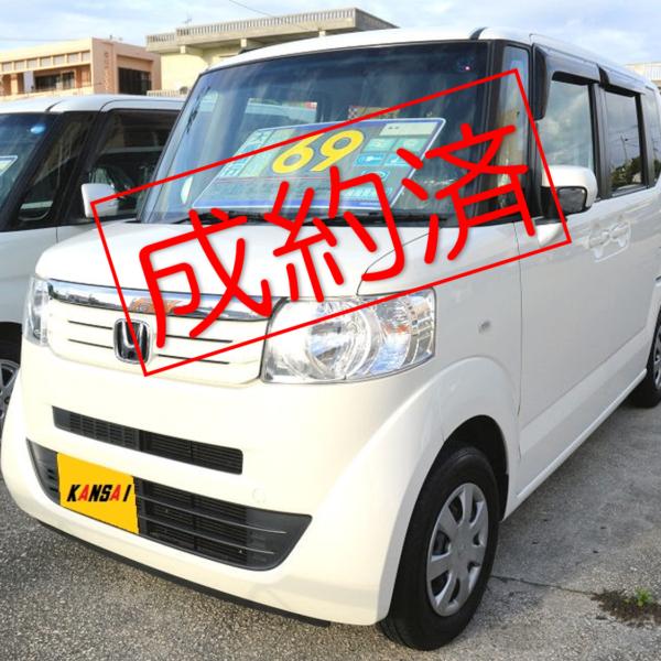 【ご成約済】N-BOX GLパッケージ パールホワイト 69万円 H24年式 走行11.4万km 車検31年3月