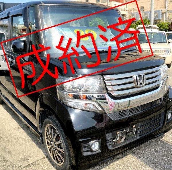 【ご成約済み】N-BOXカスタム 黒 89万円 H24年式 走行13.3万km