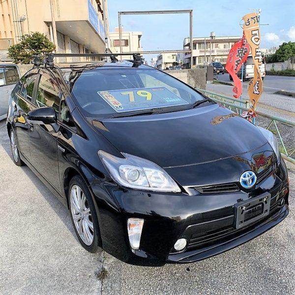 プリウス 黒 79万円 H24年式 走行11.1万km 車検費用別途