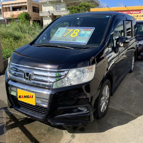 ステップワゴンWスパーダS 黒 78万円 H21年式 走行10.2万km 車検R2年7月
