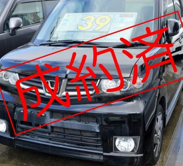 【ご成約済】ゼストスパークW 黒 43→39万円 H21年式 走行8.6万km 車検費用別途