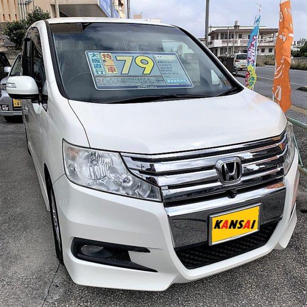 ステップワゴン スパーダZ パールホワイト 79万円 H21年式 走行9.3万km 車検R2年11月年込み
