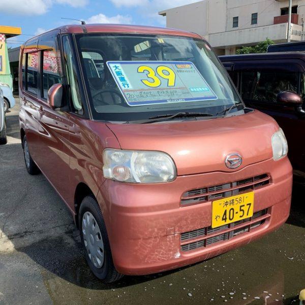 タント X-LIMITED オレンジ 39万円 H20年式 走行7.5万km 車検費用別途