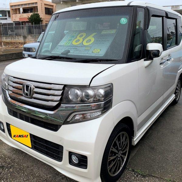 N-BOXカスタム パールホワイト 86万円 H24年式 走行12.4万km 車検R3年11