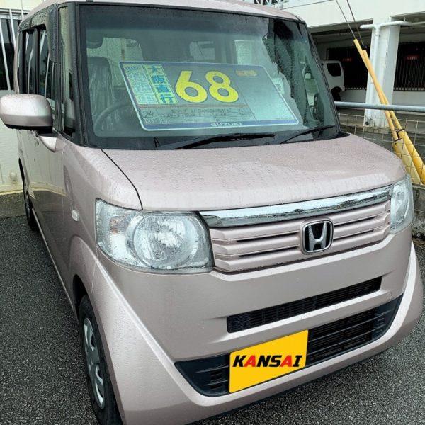 N-BOX ピンクシルバー 68万円 H24年式 走行10万km 車検R3年5月