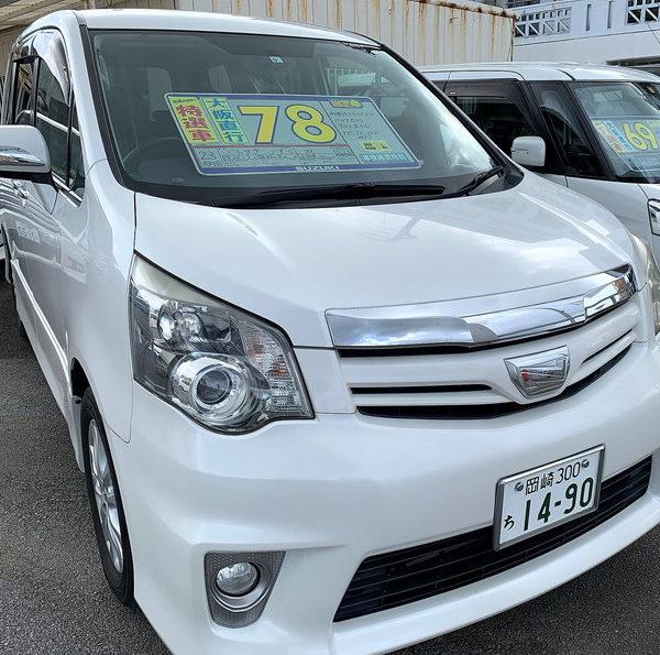 ノア Si パールホワイト 78万円 H23年式 走行10.8万km 車検R4年9月