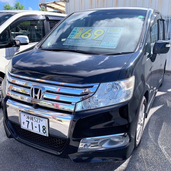 ステップワゴン スパーダZ クールスピリット ブラック 69万円 H22年式 走行12.2万km 車検R3年12月